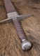 Swords and Ancient Weapons - Medieval Swords - Long Sword with scabbard, total length 116 cm, the sword comes with a leather-wrapped wooden scabbard with metal fittings.