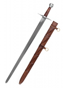 Medieval Sword Sir William Marsha, Swords and Ancient Weapons - Medieval Swords - Our sword is an accurately detailed replica of the original. It is exclusively hand-crafted. The guard and the steel pommel stand out with their elegant and functional simplicity.