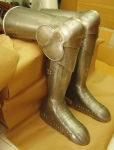 Armours - Medieval Body Armour - Medieval Legs Armor - Part of armor to protect the leg and thigh, greaves with knee cops flexible, shin and shoe,