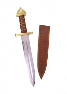 Viking Dagger, Swords and Ancient Weapons - Daggers and Sabres - Viking Dagger of the tenth century, Decorative hand-forged blade made of carbonesteel in typical shape.