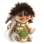 Troll  NyForm - Troll NyForm Piccoli - Troll Nyform 049 - Troll infrangibile in materiale naturale (lattex). Originale norvegese. Dimensioni: 9 cm. Originale.