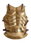 Ancient Rome - Roman Armours - Roman brass muscle cuirass, wearable Greek muscle armour made of brass, edges folded