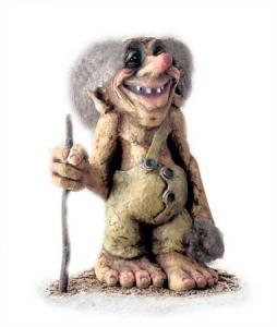 Troll Nyform  103, Troll  NyForm - Troll NyForm (Grandi) - Troll infrangibile in materiale naturale Dimensioni: 45 cm. Originale norvegese, prodotto in lattex.