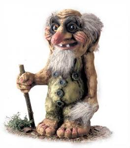 Troll Nyform 111, NyForm Troll - NyForm Troll (medium) - Norwegian Troll natural material, subject to international collection. Height: 22 cm