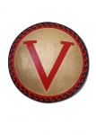 Ancient Rome - Roman Shields - Hoplite Shield fully hand painted is made of wood covered in a canvas, authentic Geek hoplite design. The interior features a leather handle, a rope which acts as the hand grip.