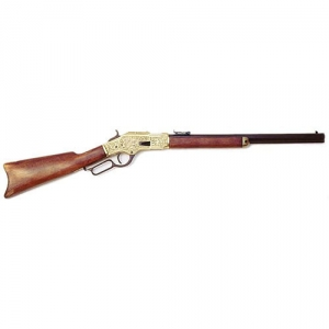 Winchester model 1873, Medieval - Firearms - Guns - Winchester rifle model 1873, the stock is made in wood, while the forniments are in cast golden metal finely chiseled, overall lenght 99 cms.