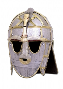 The Sutton Hoo Helmet, Armours - Medieval Helmets - Sutton Hoo's Elmo, restored, now at the British Museum.
