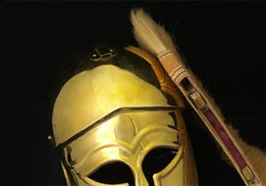 Plumes of horsehair for Corinthian helmets, Ancient Rome - Greek Armour - Ideal accessory for retrofitting a Greek or Roman helmet replica e.g. Corinthian Helmet.