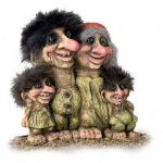 NyForm Troll - NyForm Troll (medium) - Troll Nyform 268 - Norwegian Trolls in a natural material, subject to international collection. Height: 18 cm