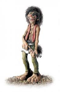 Troll Nyform 305, NyForm Troll - NyForm Troll (medium) - Norwegian Troll natural material, subject to international collection. Height: 20 cm