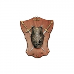 Medieval - Medieval Objects - Armour-Swords Wall Panel Decorative - Breastplate and Swords Wall Panel Decorative, fitted with steel blade two stilettos