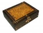 Medieval - Medieval Objects - Medieval Objects - Book-shaped box made of wood, Dim. 27 x 21 x 9 cm.