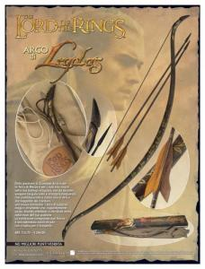 Bow of Legolas, Medieval - Arcs and Crossbows - Arcs - Legolas carried with him a dark wood bow, made during his youthness at Mirkwood. The Legolas bow is made out from a single piece of Manao wood.