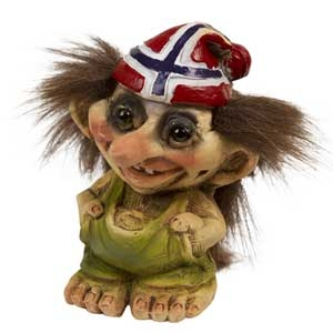 Troll Nyform 091, Troll  NyForm - Troll NyForm Piccoli - Troll infrangibile in materiale naturale (lattex). Originale norvegese. Dimensioni: 8,5 cm,
