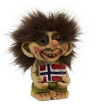 Troll  NyForm - Troll NyForm Piccoli - Troll infrangibile in materiale naturale (lattex). Originale norvegese. Dimensioni: 8,5 cm,