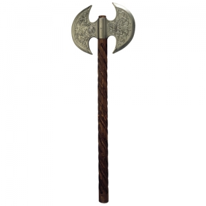 Ceremonial ax ax, Medieval - Axes and Maces - Axes - decorated with carvings in relief. Total length 60 cm.