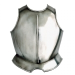 Armours - Medieval Body Armour - Easy-to-chest armor to protect the front of the trunk, made of polished steel.