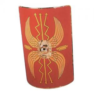 Roman Scutum - average, Ancient Rome - Roman Shields - Roman legionary shield, rectangular introduced from the late first century AD and in use until about the third century. Dimensions: Height: 89 cm. Width: 48 cm. (Span: 55 cm. Max depth: 11cm.