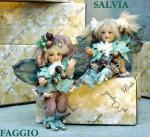 Porcelain Fairy Dolls - Porcelain Fairy - Porcelain Fairies (Small) - Characters porcelain bisque. Height 18 cm.