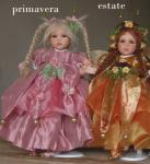 Porcelain Fairy Dolls - Porcelain Fairy - Porcelain Fairies - Fairy Sculpture, handcrafted porcelain doll Biscuit. Height: 32 cm. Collection Montedragone. The price refers to a single doll.