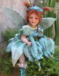 Porcelain Fairy Dolls - Porcelain Fairy - Porcelain Fairies - Fairy Sculpture, handcrafted porcelain doll Biscuit. Height: 14.2 in - 36 cm. Collection Montedragone.