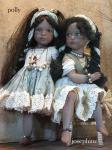 Collectible Porcelain Dolls - Porcelain Dolls - Bisque Porcelain Dolls - Porcelain dolls of bisque, height: 38 cm.
