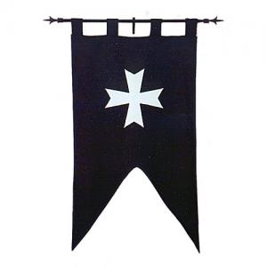 Accommodation in standard double-sided, Medieval - Medieval Clothing - Banner Cotton depicted the cross accommodations in double-sided.