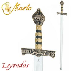 Barbarossa Sword, Swords and Ancient Weapons - Collectible swords historical - Barbarossa The sword has a steel blade is decorated with engravings on the top with the nut-shaped nut topped by two knights kneeling.