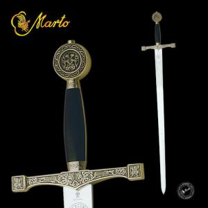 Excalibur Sword Bronze, Swords and Ancient Weapons - Legendary Swords - Pada with steel blade, decorated to the first third, molten brass hilt with decorative details in relief.