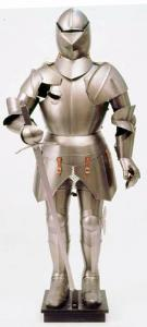 "Medieval Armor Italian, Armours - Medieval Armour - Medieval Armor ""Italian"", featuring pieces from the surface smooth and rounded and composed of a helmet man of arms typical of the second half of the fifteenth century,"