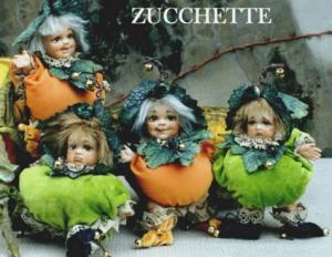 Gourds - porcelain dolls, Porcelain Fairy Dolls - Porcelain Fairies Elves - Porcelain dolls, height: 16 cm, dolls made of the best artistic porcelain bisque, The price refers to a single doll.