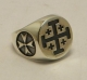 Jewellery - Templar Medieval - Ring Jerusalem cross, made ​​of silver, is suitable for most measures.