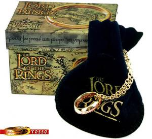 One Ring (Red Registration), World Cinema - The Lord of the Rings - Jewellery - Jewellery - Ring with Elvish inscription inside and outside from the film The Lord of the Rings.
