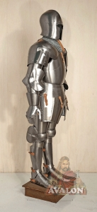 "Medieval armor, Armours - Medieval Armour - Medieval armor ""Dei Corio"", composed of hidden high-necked, with opening face T, surrounded by a rectangular bar reinforcement. Price: 2329.42 USD."