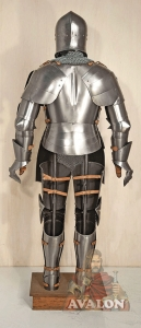 Medieval Knight Armor, Armours - Medieval Armour - Medieval Knight Armor, composed helmet Bearded Venetian XIV Century high-cone with opening face Y, medieval armor made entirely by hand in Italy.