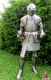 Armours - Medieval Armour - Wearable medieval armor (shiny) made of steel, handmade with wood base and steel sword.