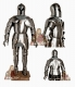 Armours - Medieval Armour - Medieval Knight Armor, composed helmet Bearded Venetian XIV Century high-cone with opening face Y, medieval armor made entirely by hand in Italy.