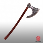 Medieval - Axes and Maces - Axes - Ornamental reproduction of Viking Axe of sec VIII, battle axe, die-cast metal Head. decorated, length: 87 cm.