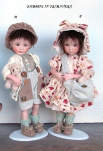 Baby in Spring, Collectible Porcelain Dolls - Porcelain Dolls (New) - Baby Dolls in Spring, Porcelain Dolls, Collectible Dolls, Baby Dolls  - Avalon Shop, Collectible dolls porcelain bisque, height 29 cm.