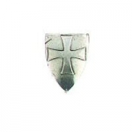Jewellery - Templar Medieval - Pewter pin depicting a shield with a cross drawn, teaches traditional monastic orders of knights Templars, Hospitallers and Teutonic.