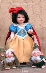 Collectible Porcelain Dolls - Dolls Porcelain Fairy Tales - Snow White, Dolls porcelain fairy tales, porcelain bisque, Size: 26 cm high.
