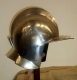 Armours - Medieval Helmets - Burgonet helmet for armor, helmet called Burgundy, is a type helmet with headgear, face uncovered.