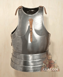 Cuirass Medieval Front & Back Plate Armor, Armours - Medieval Body Armour - Cuirass Medieval Front & Back Plate Armor, attached with groundwater in three layers, milanese cuirass, reproduction of armour.