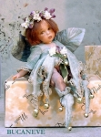 Porcelain Fairy Dolls - Porcelain Fairy - Porcelain Fairies - Fairy Sculpture, jointed doll crafts porcelain Biscuit. Height: 24 cm. Collection Montedragone.