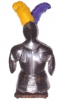 Medieval - Medieval Objects - Armour-Swords Wall Panel Decorative - Armor and helmet with steel, wall bracket.