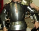 Armours - Medieval Body Armour - Medieval breastplate, composed of four pieces, complete protection of the chest and back, made of brushed stainless steel with leather straps.