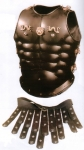 Ancient Rome - Roman Armours - Bust In Leather - Leather torso to protect the chest, in Roman times, this model was adopted by senior officers, lends itself to different sizes.