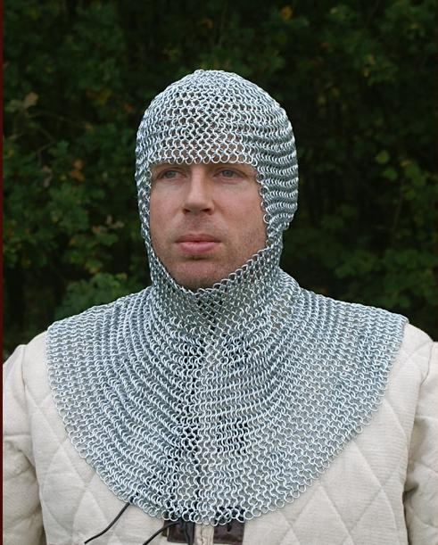 Chainmail coif Armor, Medieval Body Armour for sale - Avalon