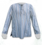 Medieval - Medieval Clothing - Medieval Fantasy Costumes - Medieval striped shirt of sturdy canvas.