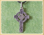 Jewellery - Tribal Ethnic - Depicting the Celtic Cross Pendant in Sterling Silver 925. Size. mm. 35x20 - with a lace in cotton,